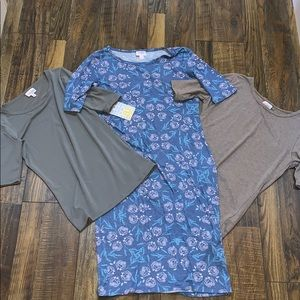 3 set bundle 1. Dress. 2. Shirts